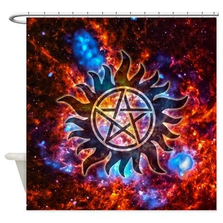 Supernatural Cosmos Shower Curtain By The Gift Shop Wall