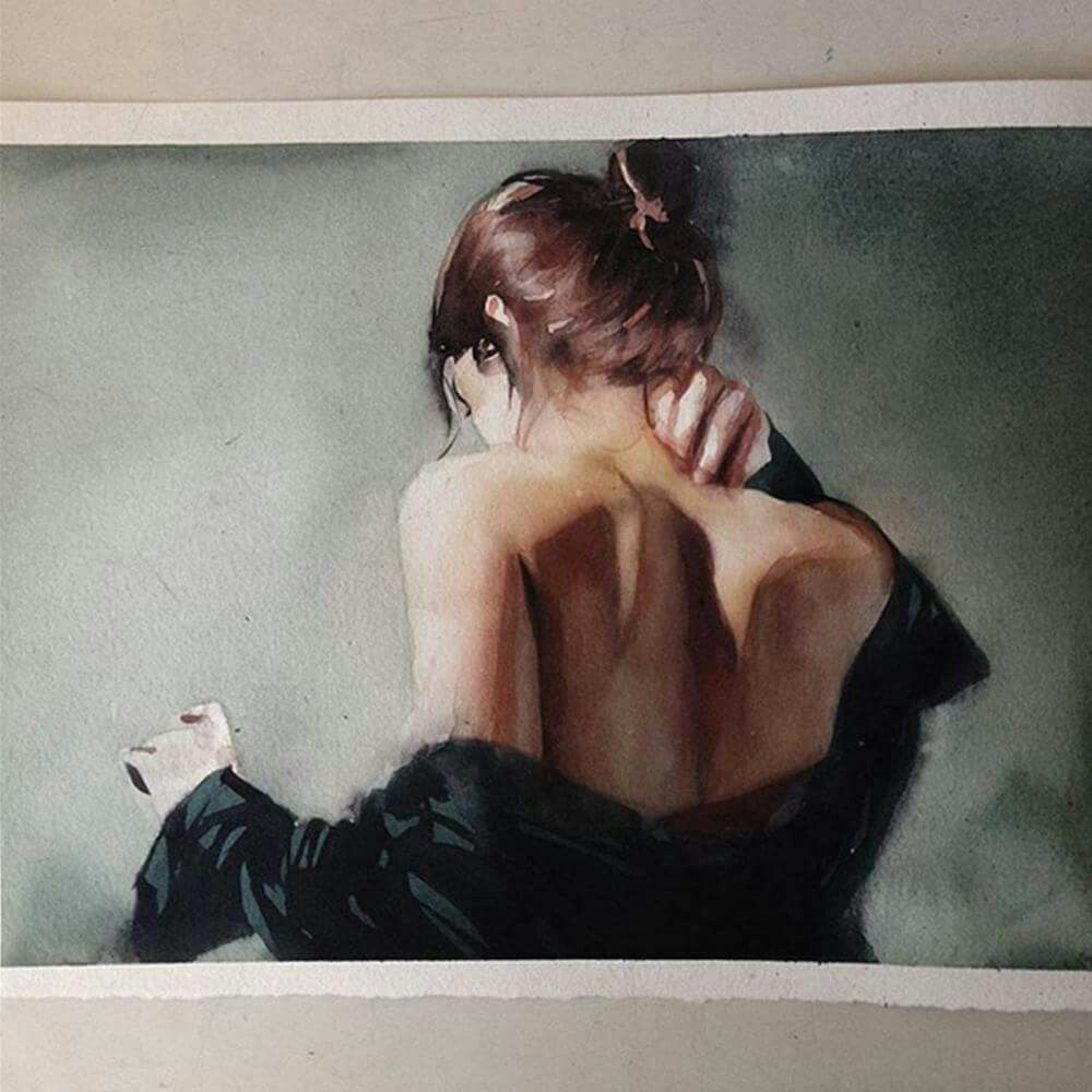 Marcos Beccari Portrait Watercolor Art Art Drawings
