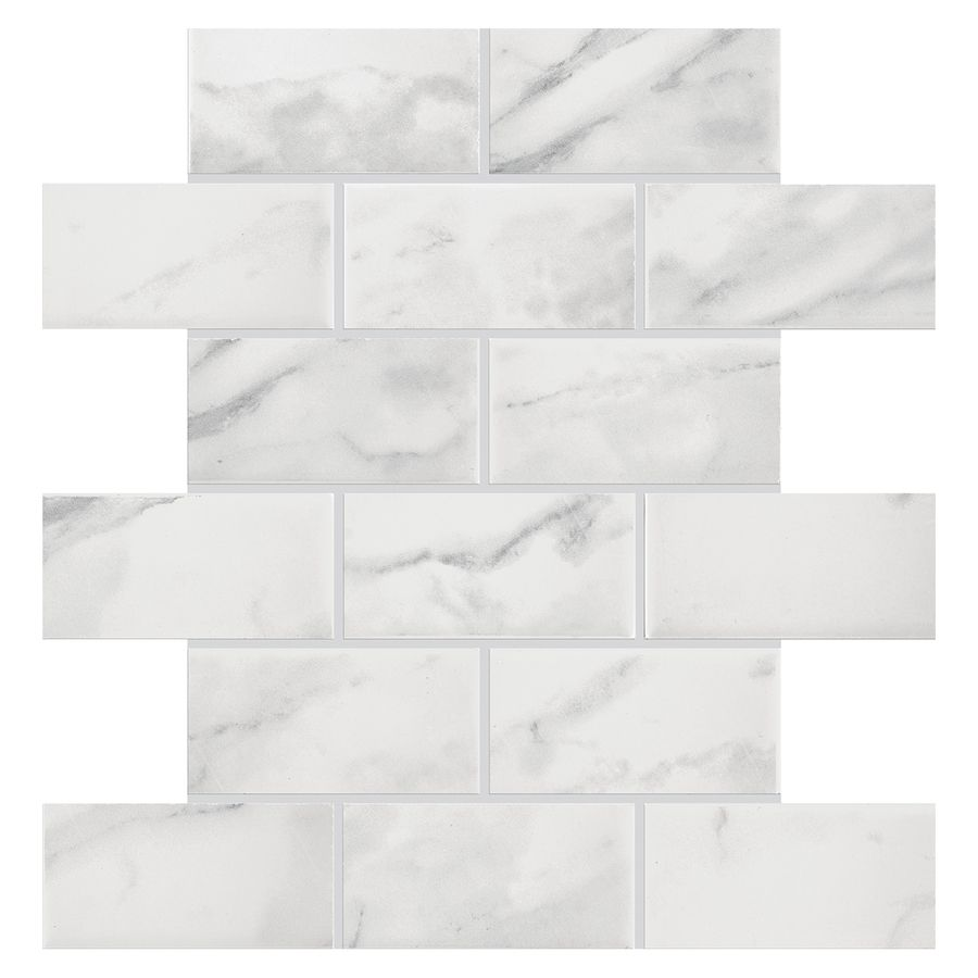 American Olean Mooreland Carrara White Subway Mosaic ...