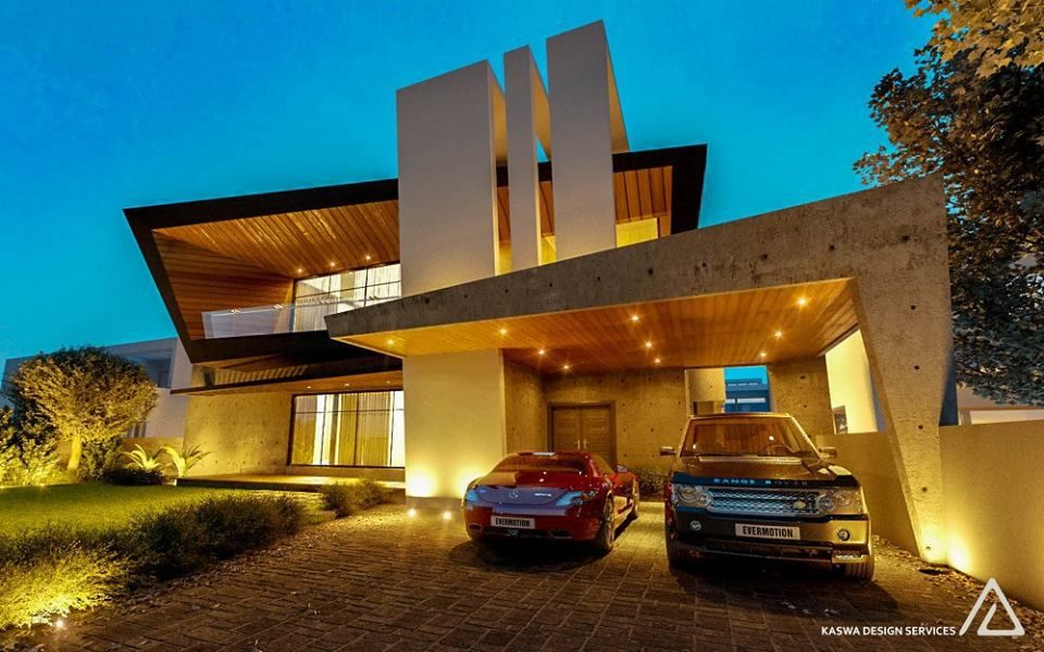 Beautiful Contemporary Home Design Part - 48: 2 Kanal House-modern House-contemporary Residence-beautiful Homes-home  Designs-