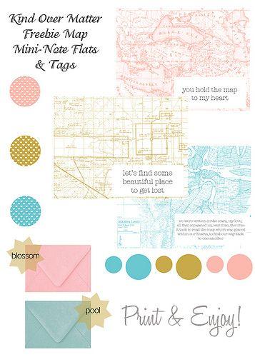 image regarding Printable Love Note identified as Freebie Printable : Mini Map Get pleasure from Notice Apartments