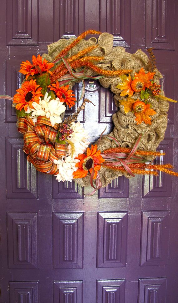 Rustic Fall Wreath by NiccoletasTrade on Etsy, $60.00