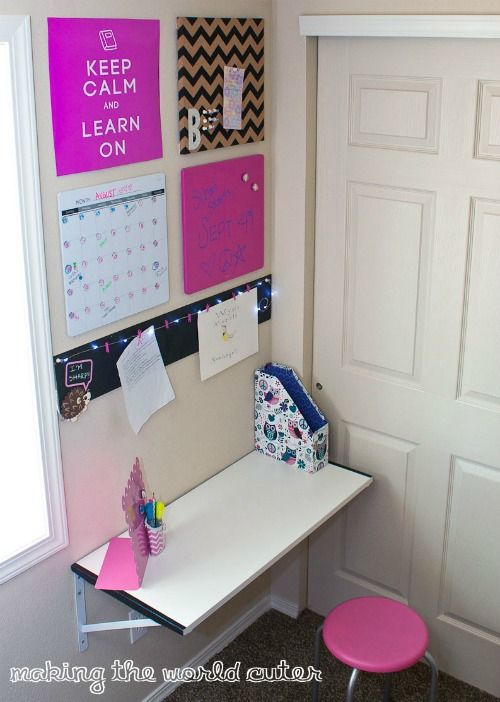 Home Command Centers And Homework Center Ideas Bedroom Desk Organization Diy Room Decor For Teens Organized Desk Area