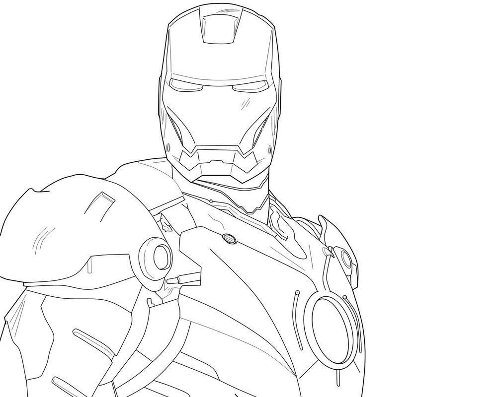 Iron Man Line Drawing By Tehdrummerer On Deviantart Avengers Coloring Pages Avengers Coloring Coloring Pages