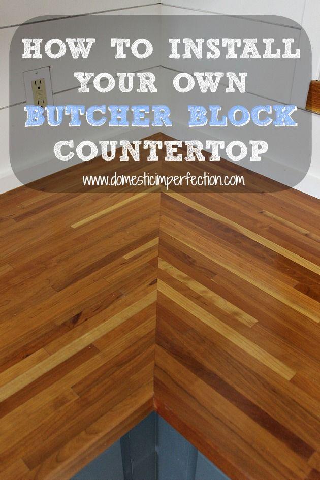 Installing Butcher Block Countertops Butcher Block Countertops