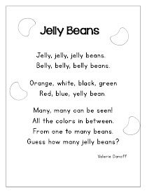 List of Jelly Bean Math Short Poems For Kids of the Month From joyfullearninginkc.blogspot.com