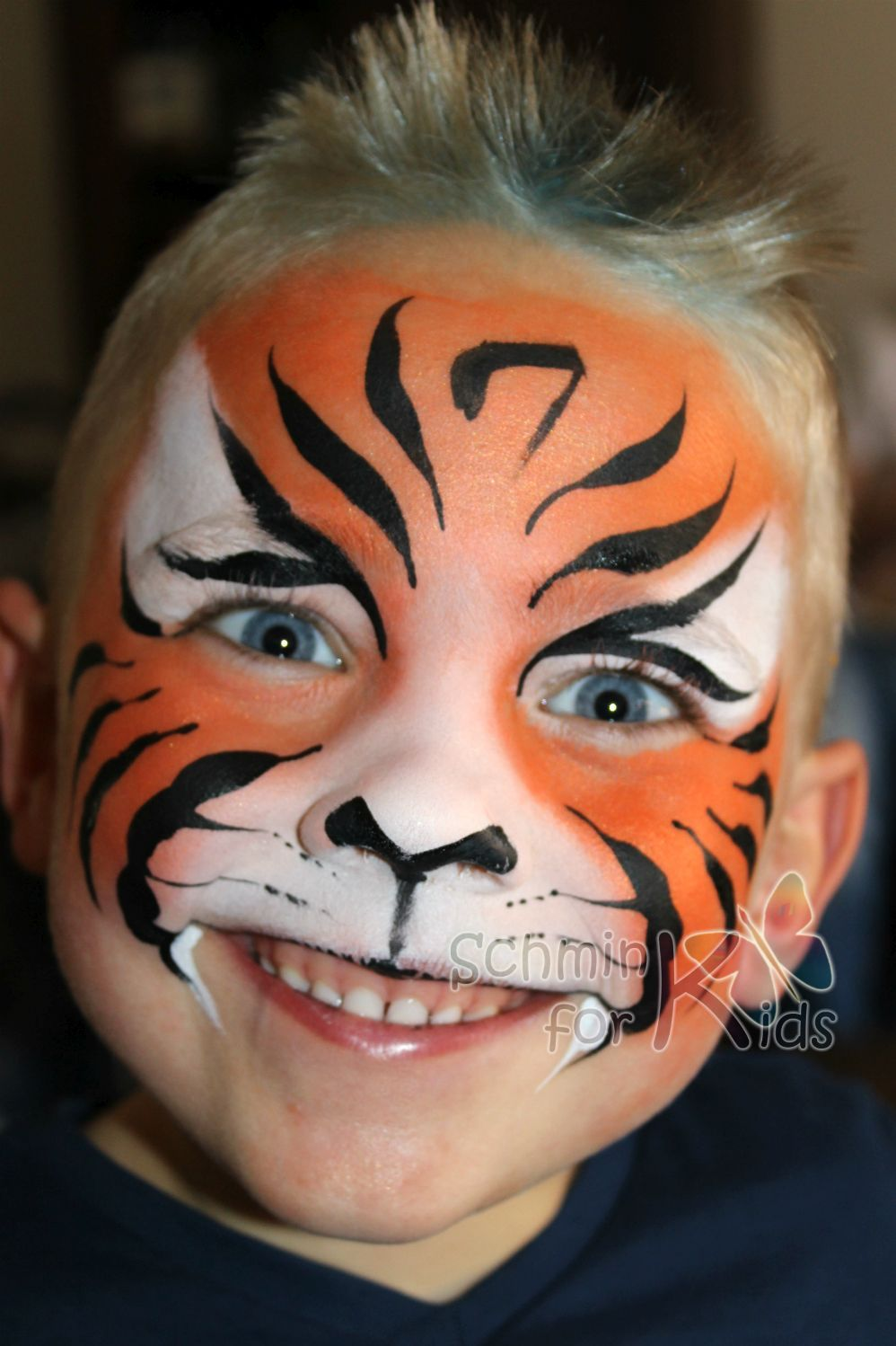 tiger schmink for kids facepaint schminken tijger. Black Bedroom Furniture Sets. Home Design Ideas
