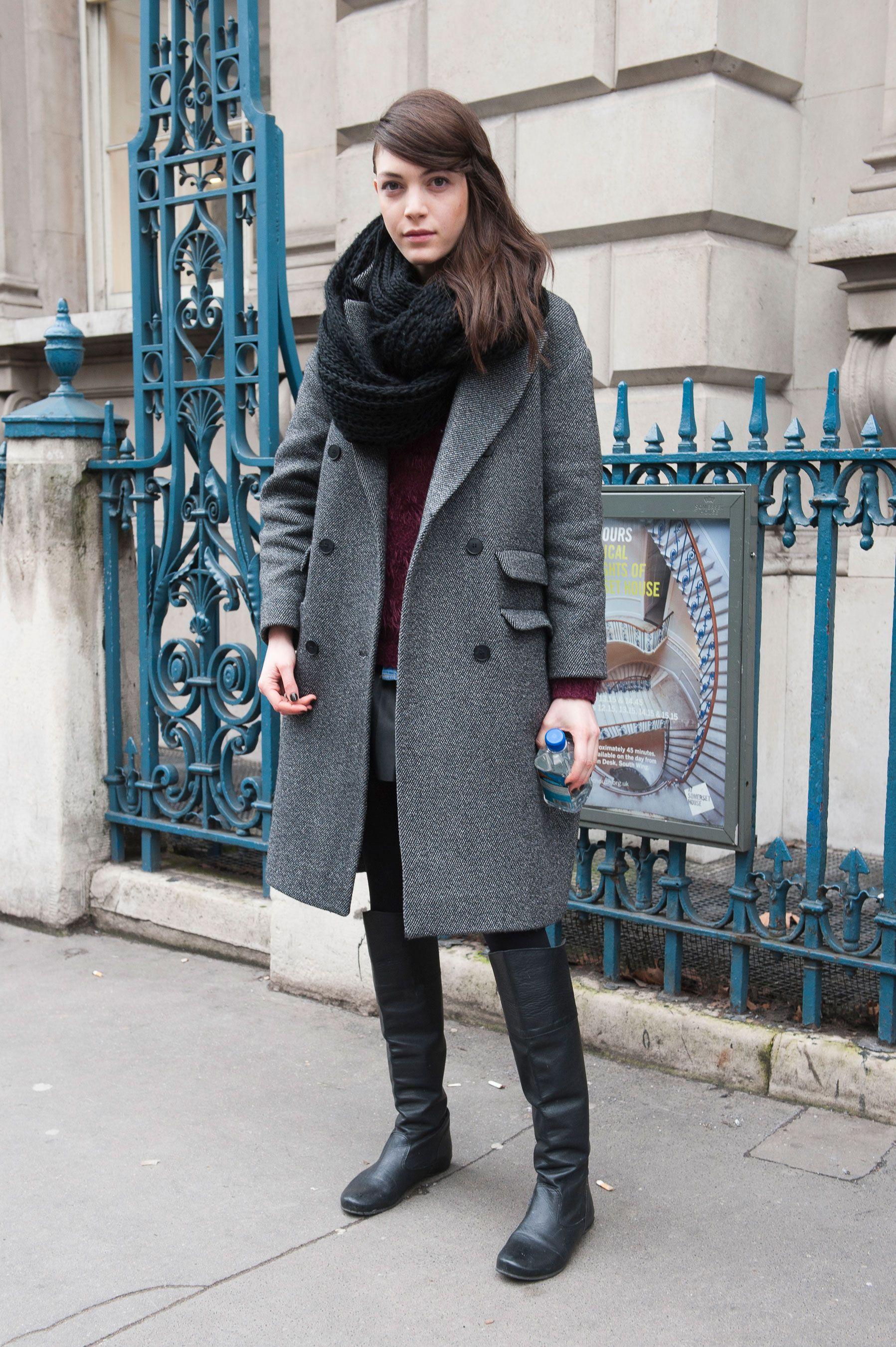 Street fashion: modelki off duty w Londynie, fot. Imaxtree