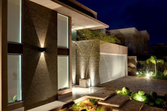 Fachadas Bonitas Y Modernas Casa Alphaville Fachadas De Casas Y - Casas-por-dentro-modernas