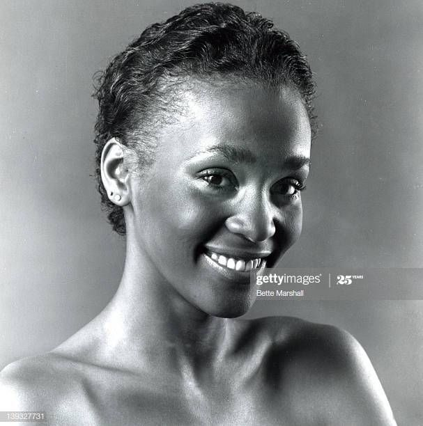 A young Whitney Houston during a portrait session circa ...