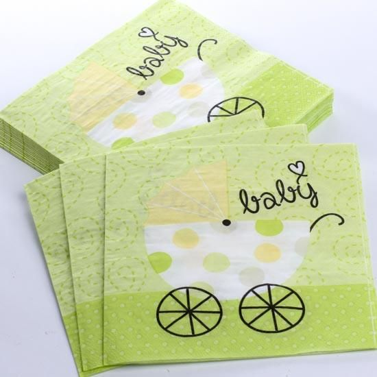 Baby Shower Napkins Baby Girl Shower Decorations Pinterest