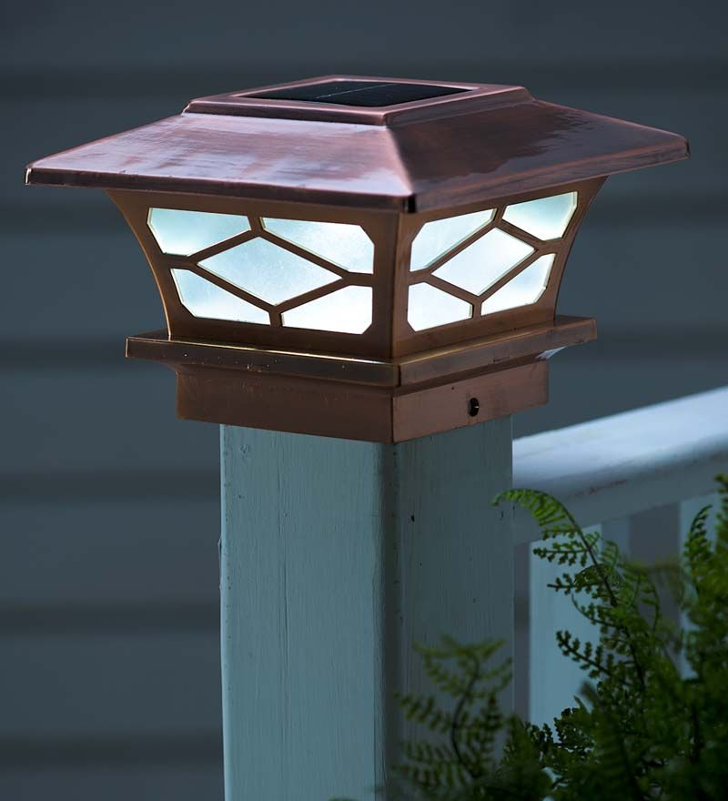 Classic Solar Post Cap Lights, Set of 2 Solar Lighting