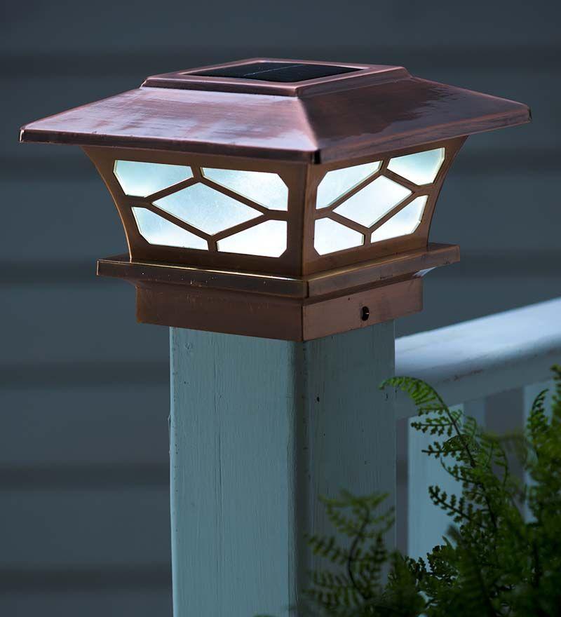 Classic Solar Post Cap Lights, Set of 2 Solar Lighting
