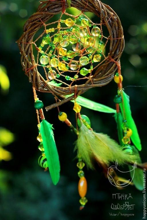 """Ловцы снов ручной работы. Ярмарка Мастеров - ручная работа. Купить Ловец снов """"Ночная роса"""" 2. Handmade. Зелёный"""
