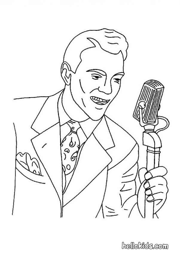 60 S Singer Coloring Page Amazing Way For Kids To Discover Job More Original Content On Hellokids Com Coloring Pages Color Coloring Sheets