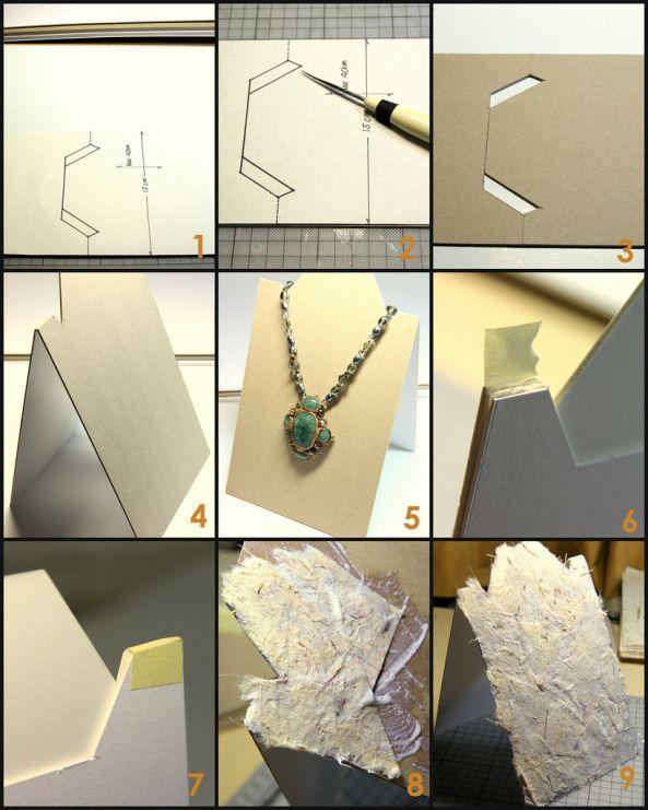 ad33cd5e4c36 Ideas para realizar un exhibidor de Collares!! Inténtalo ...