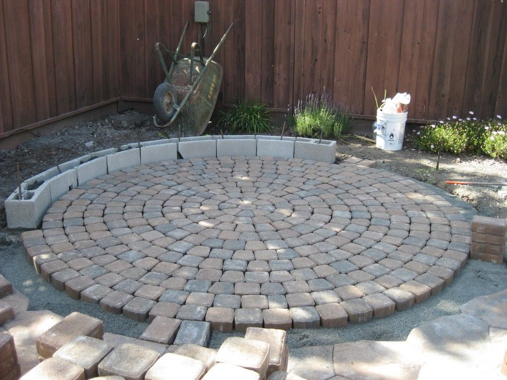 Charming Curved Pavers Home Depot In The Process Of Project | front ...