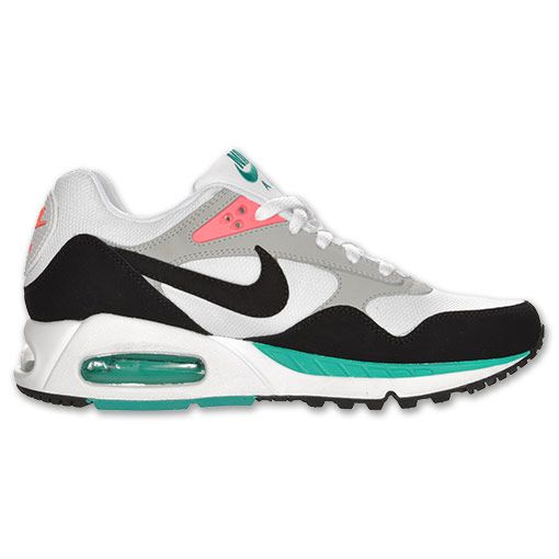 new concept 61167 d8a93 Nike Air Max Correlate Women s Running Shoes   FinishLine.com   White Black Green Bright  Mango