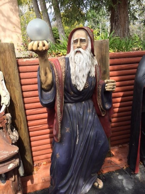 Life Size 6\u0027 Merlin Statue - Halloween Display Prop Awesome - life size halloween decorations