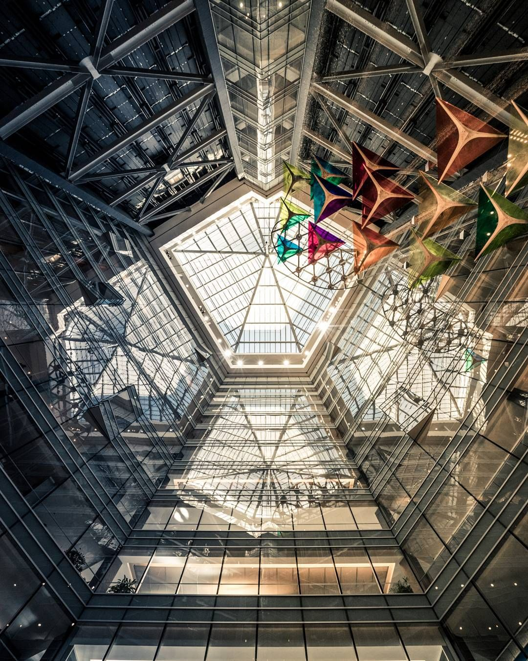 This Photo Is Taken Looking Straight Upwards From The Base Of The