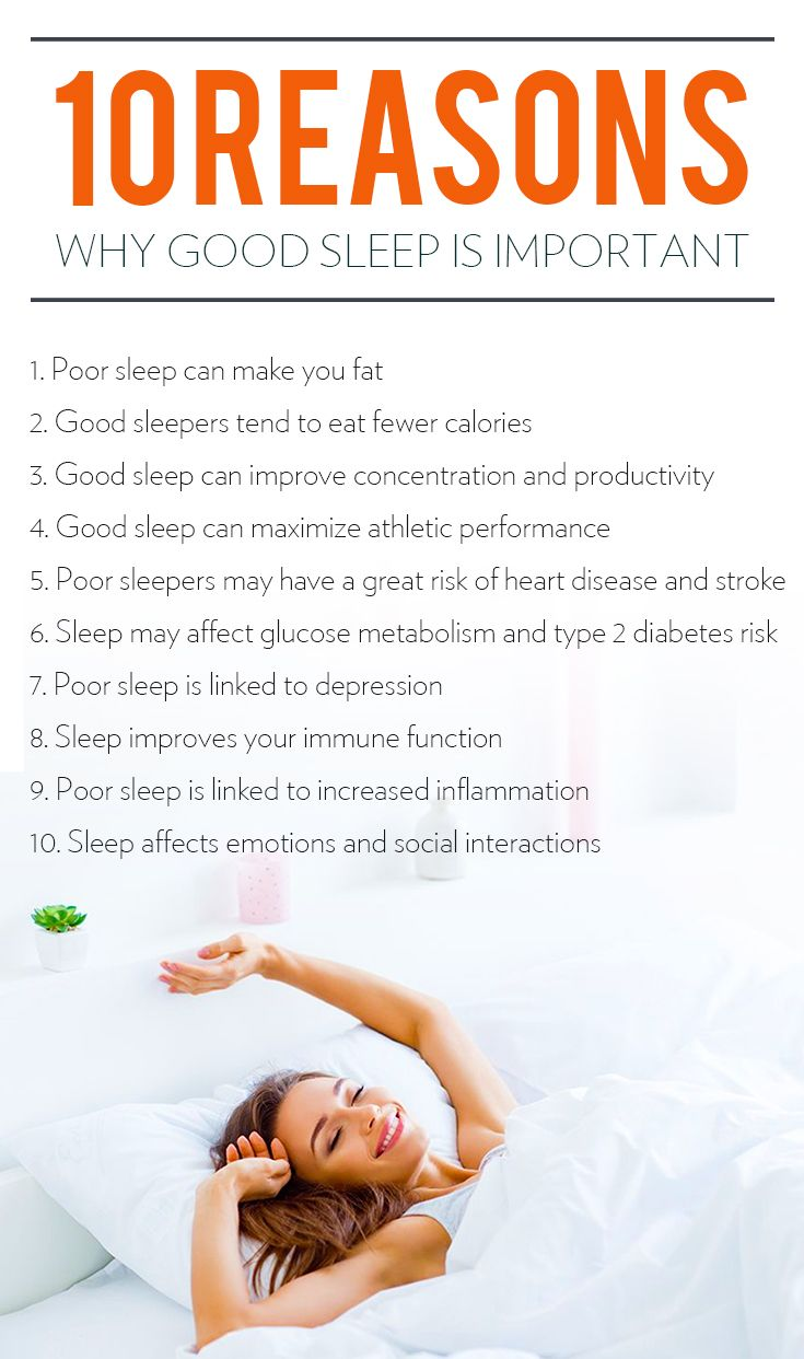 Here are the reasons why good sleep is important
