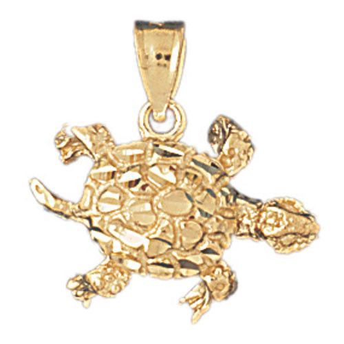 14K GOLD NAUTICAL CHARM - TURTLE #1005