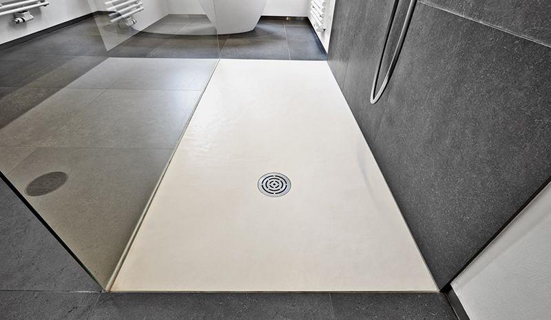 Gietvloer Badkamer Douche : Stijlvolle gietvloeren in de badkamer vloerinspiratie beton hout