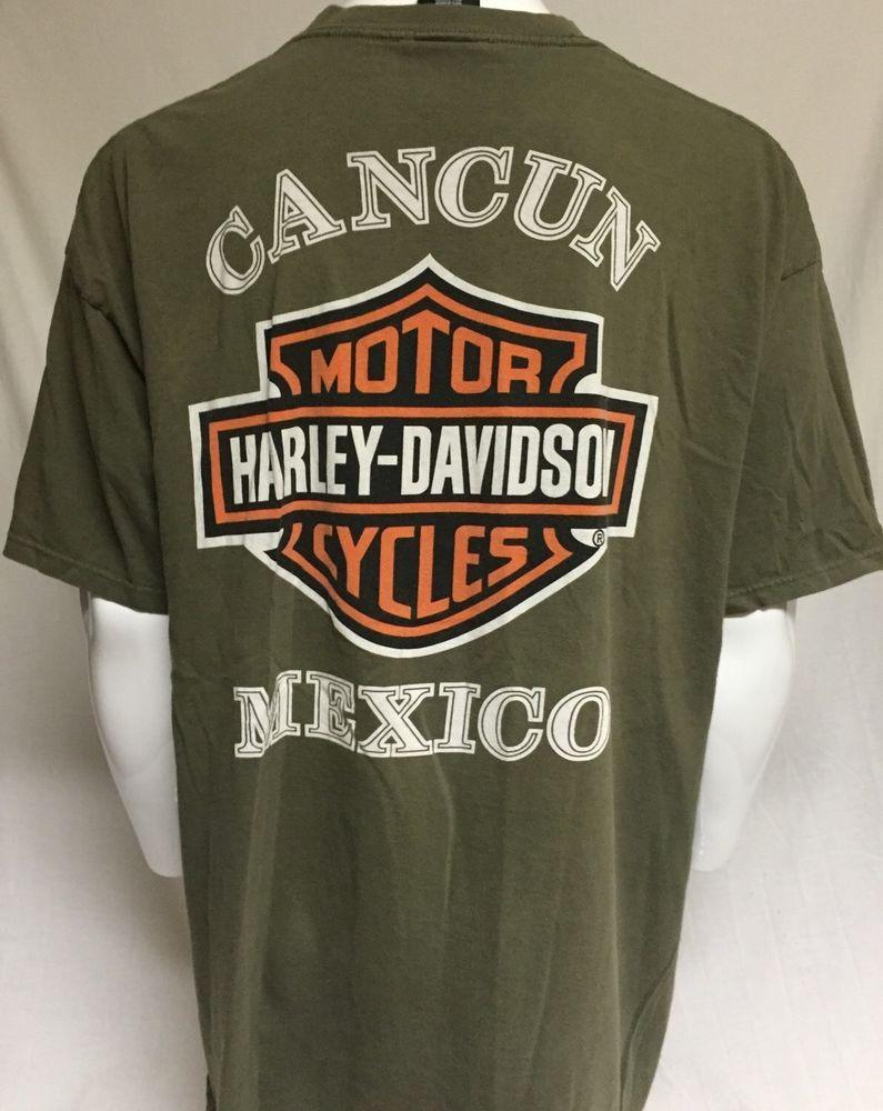 Harley Davidson Cancun Mexico Xxxl Short Sleeve Tee T Shirt 3xl Shirts Short Sleeve Tee T Shirt