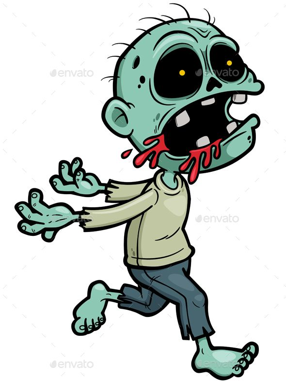 Vector Illustration Of Cartoon Zombie Zombie Cartoon Zombie Drawings Cute Zombie