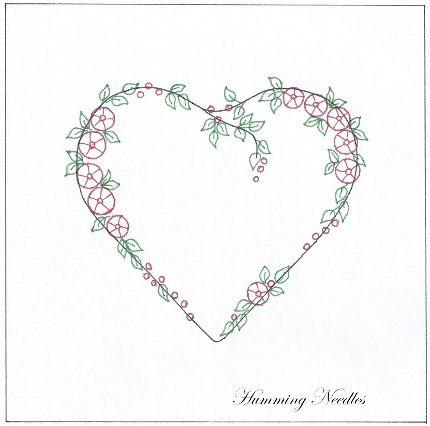 Roseheart1 Free Silk Ribbon Embroidery Pattern Crafts Pinterest