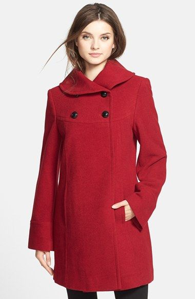 Larry Levine Wool Blend Babydoll Coat available at #Nordstrom ...