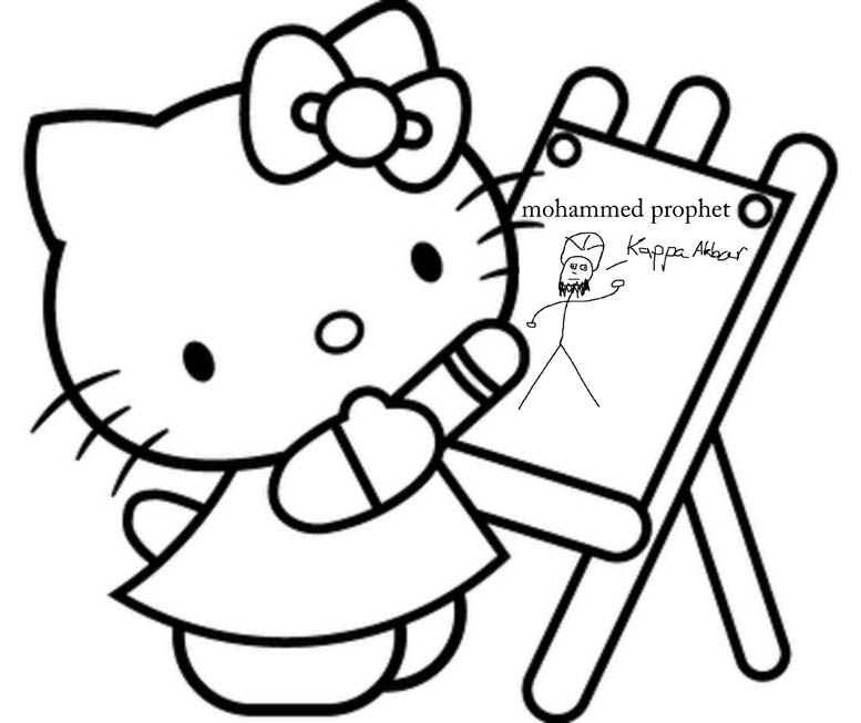 hello-kitty painting mohammed prophet | je suis charlie | Pinterest