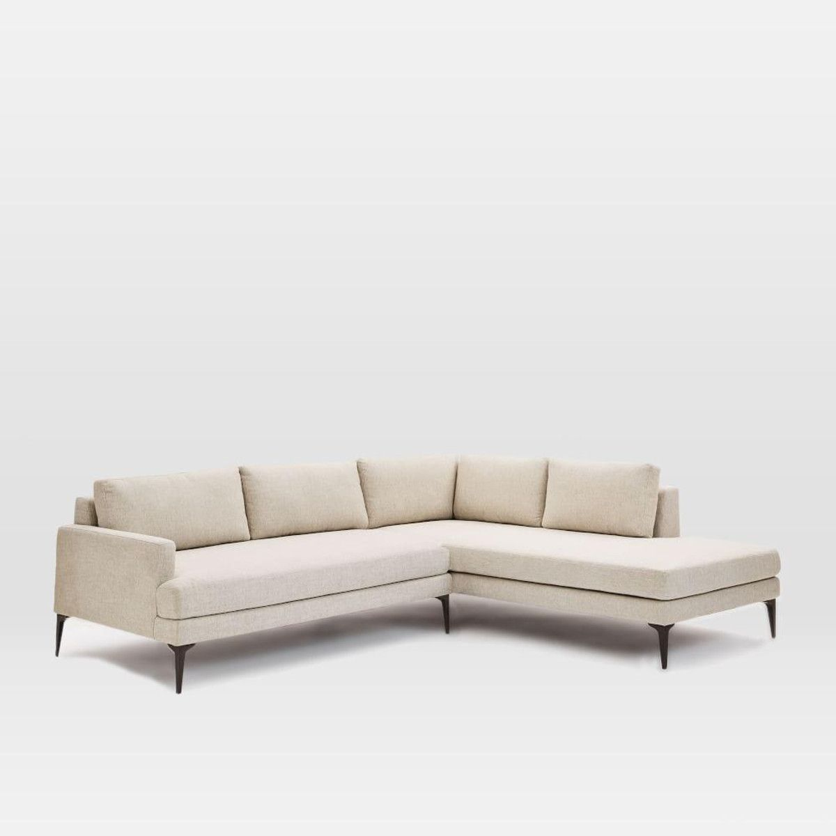 Andes Terminal Chaise Sectional At West Elm Overall