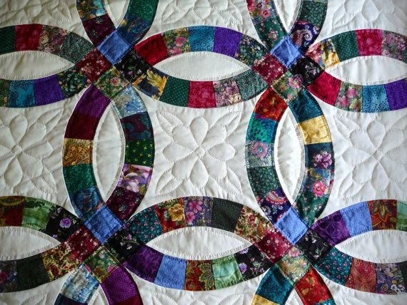 Private Listing For Etsy Member Agruters Etsy Double Wedding Ring Quilt Wedding Ring Quilt Double Wedding Rings