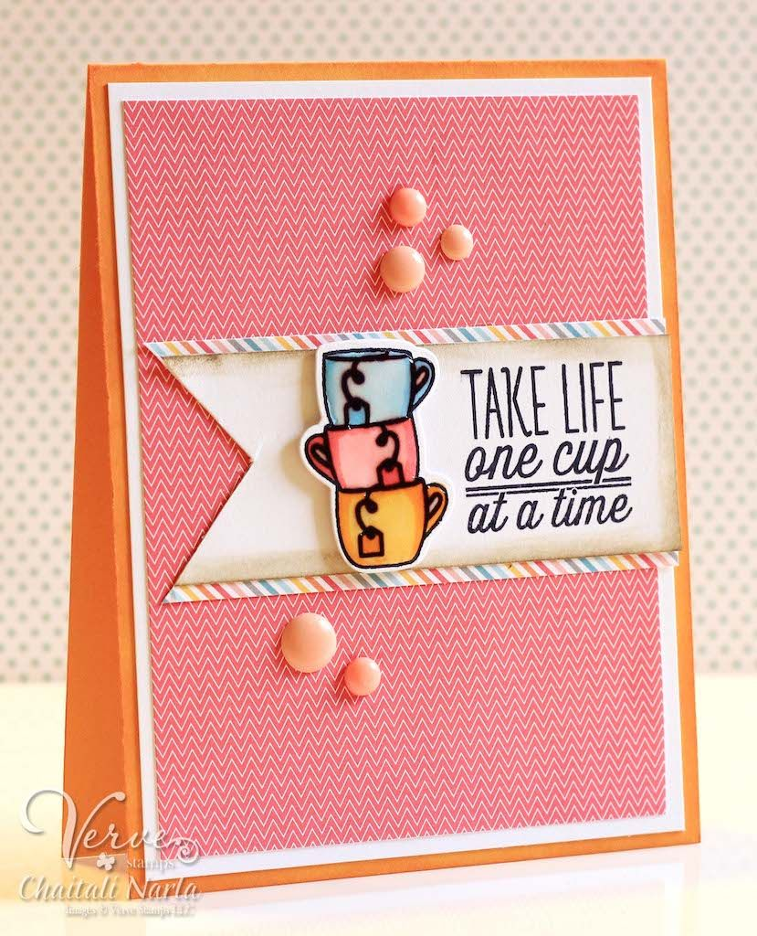 Card by Chaitali Narla using One Cup from Verve. #vervestamps