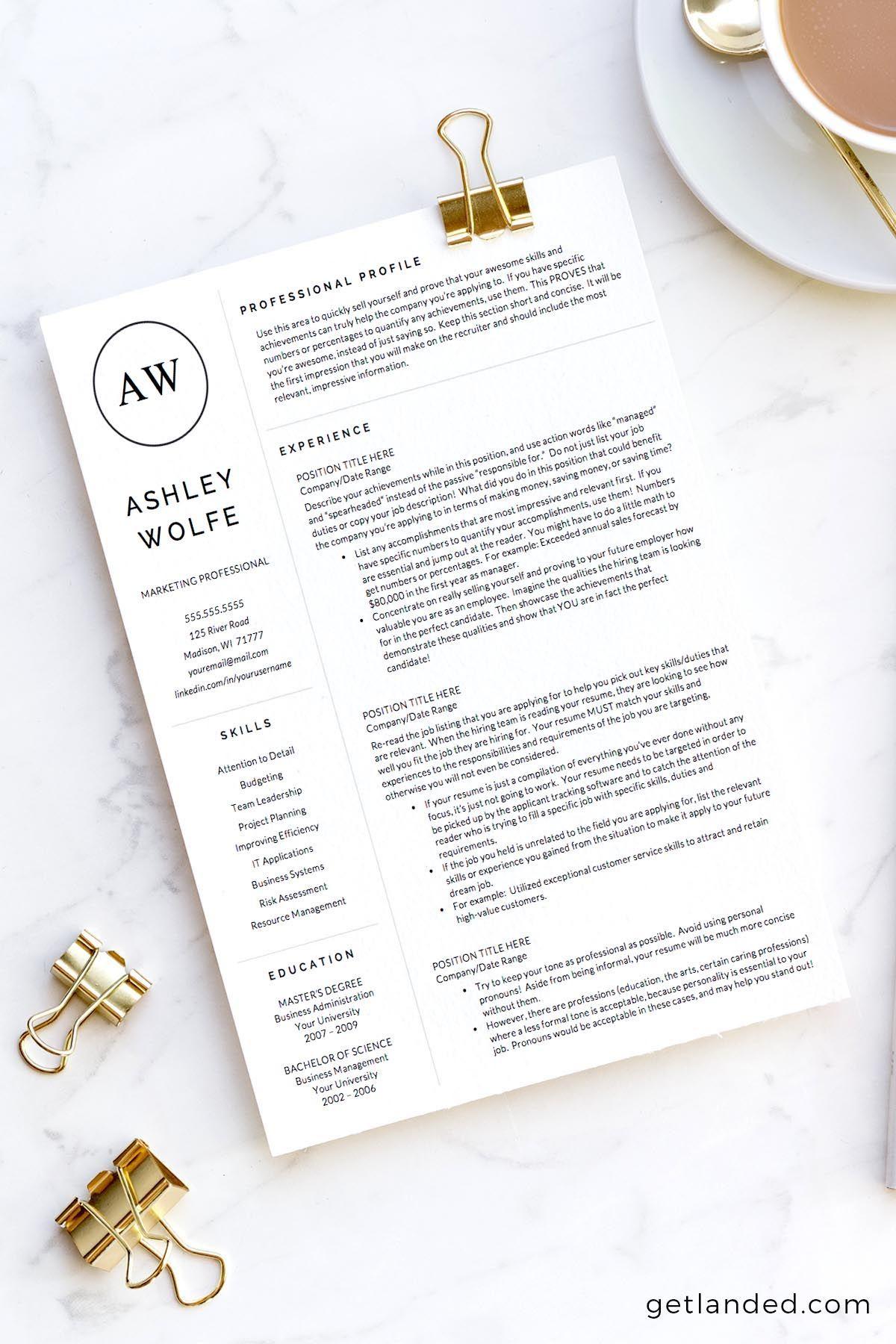 New grad resume college grad resume template for word