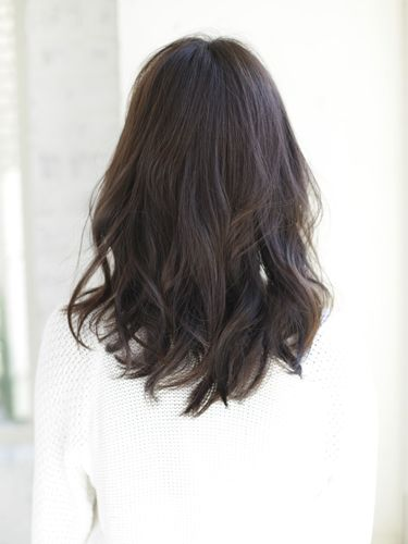 style layered haircut 黒髪ウェーブ ミディアム hair style hair cuts and japanese haircut 5975