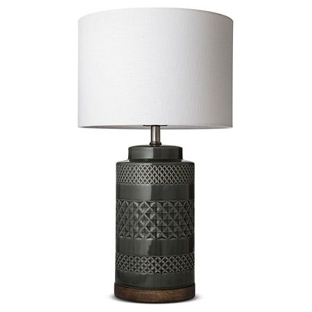 Wood And Ceramic Table Lamp   Jade   Threshold™ : Target