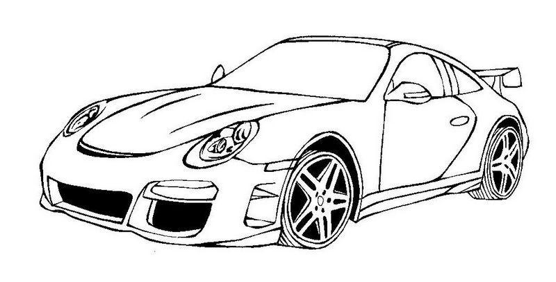 ausmalbilder porsche 05   Cars coloring pages, Porche car ...
