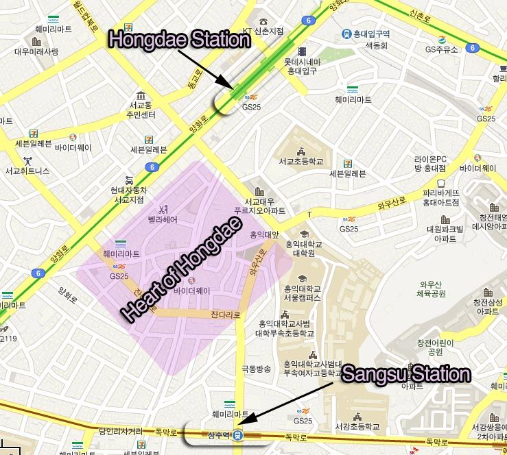 how to get to hongdae Seoul South Korea Pinterest Seoul