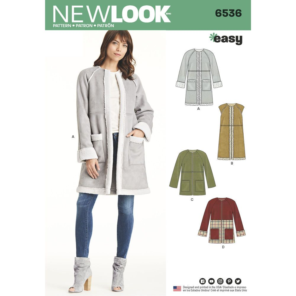 Simplicity  8469 Misses/' Coat Jacket and Vest   Sewing Pattern