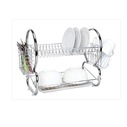 Home Basics 2 Tier Dish Drainer Dish Rack Chrome Products In