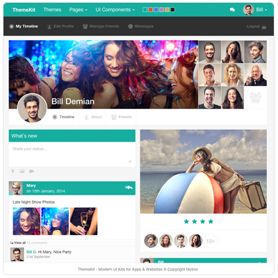 Social Network Template | Projects to Try | Pinterest | Social ...