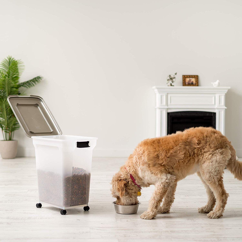 Inspired Essentials 55 Qt Plastic Airtight Pet Food Storage Pet