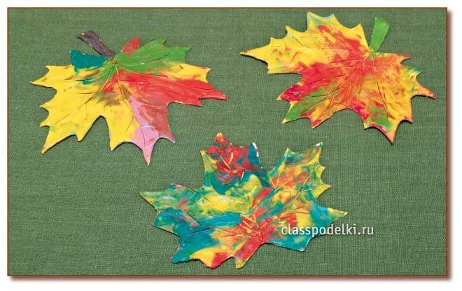 Осенние листья из пластилина. Поделки Pinterest Осенние 43