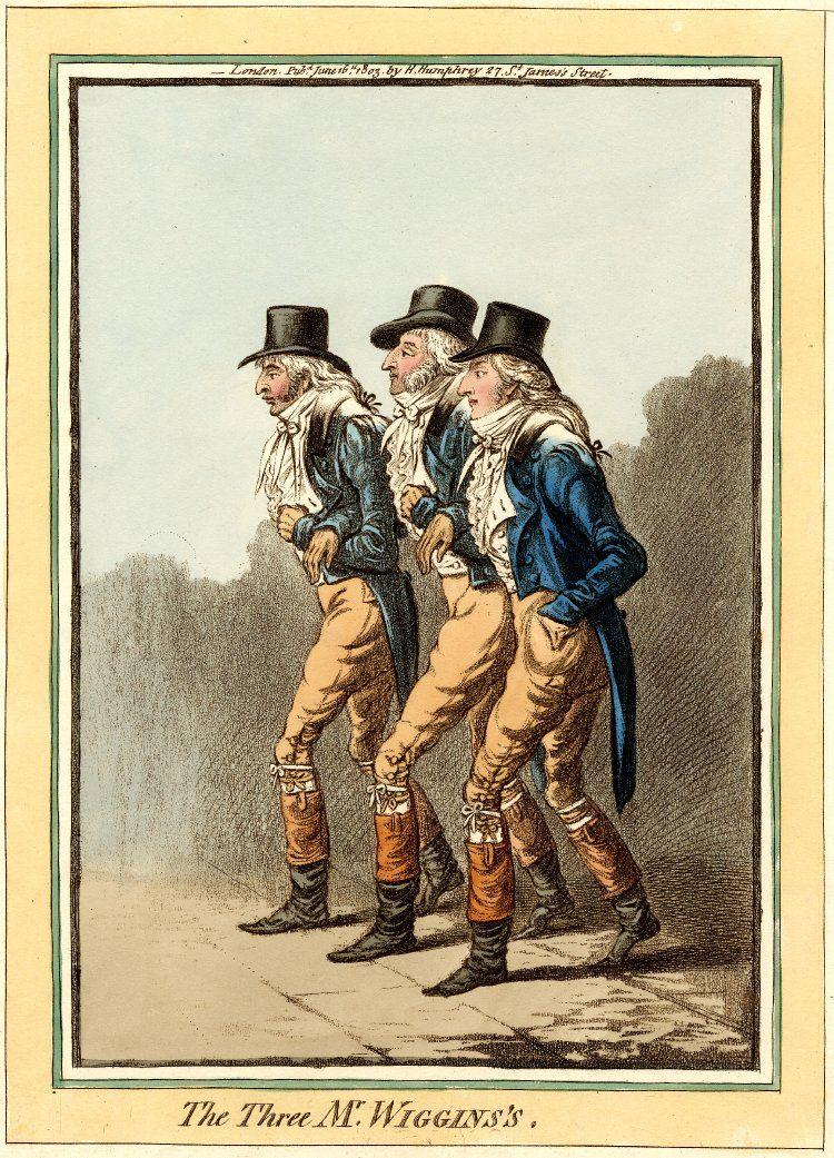 Gillray's The Three Mr Wiggins's (British Museum)1803