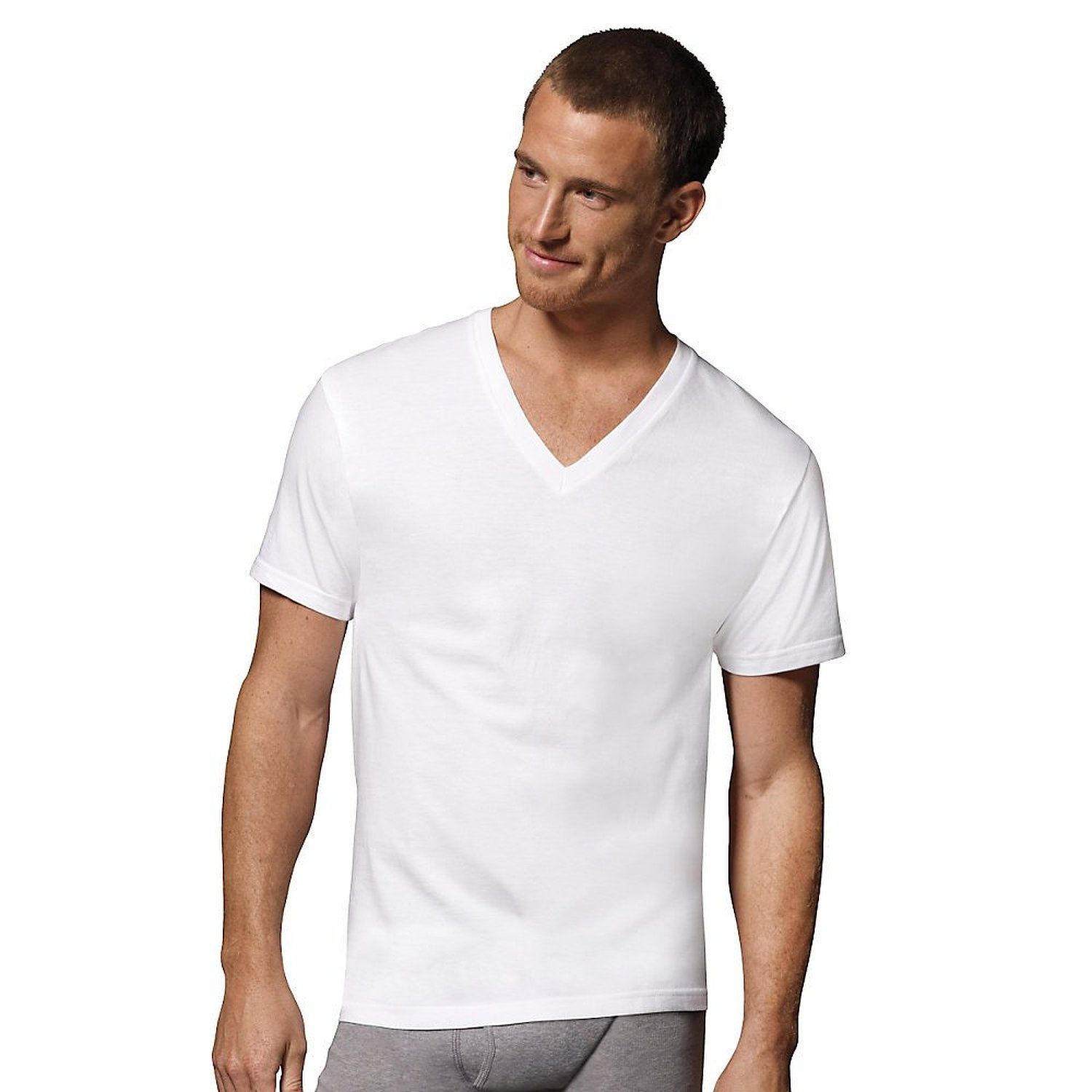 Hanes black t shirts xxl - Amazon Com Mens Hanes White V Neck T 5 Pack Xxl White
