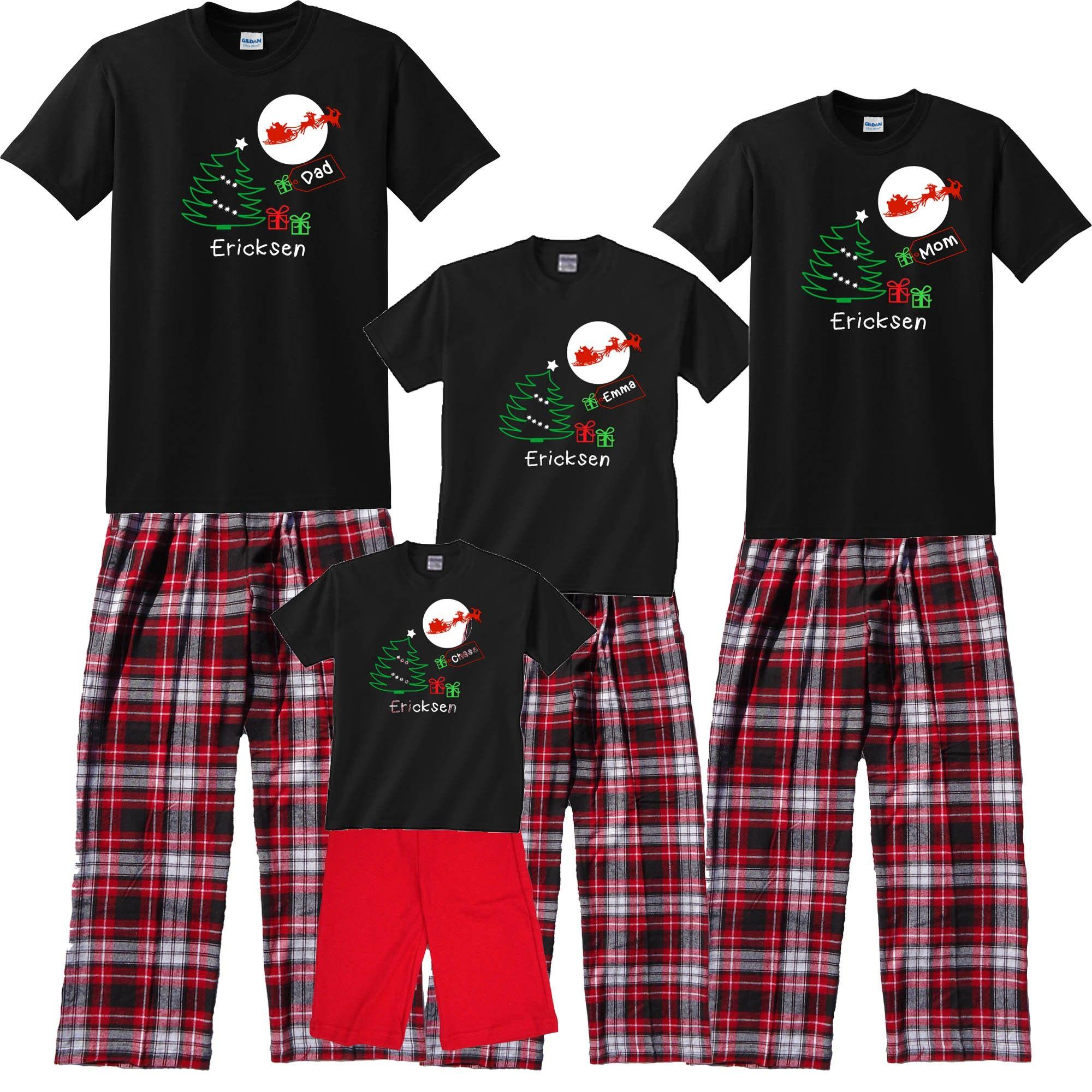custom personalized Christmas pajamas | Matching family ...