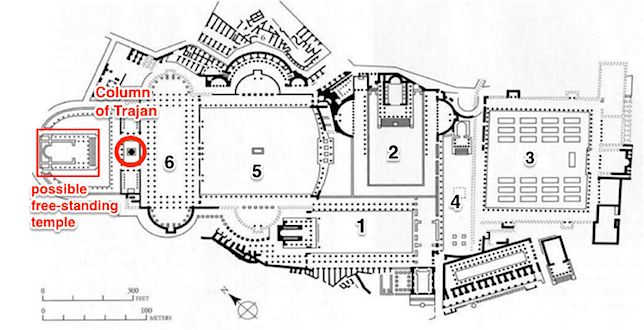 Reconstructed plan of the Imperial fora showing a