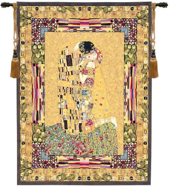 The Kiss European Wall Hangings | Wall tapestries, Tapestry and Kiss
